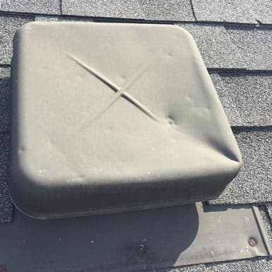 Hail Damage To Roof Vent