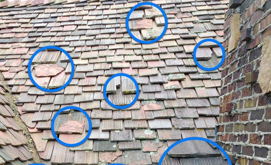 Clay Tile Damage