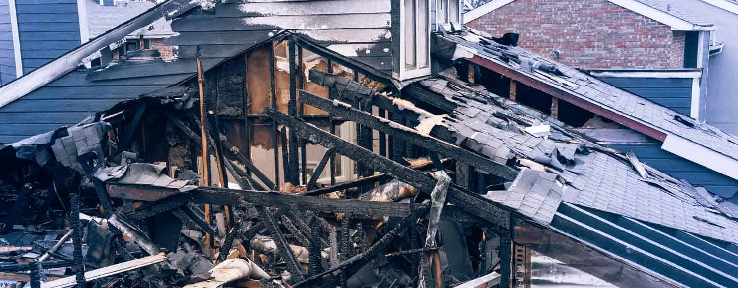 Fire Damage Roof Apartment Building