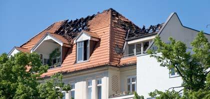 Fire Damage on Tile Rooftop