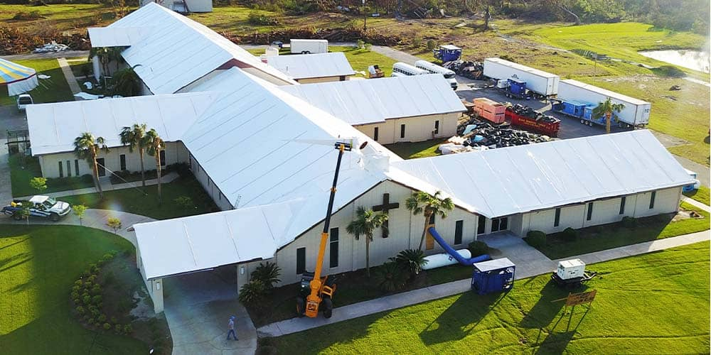 Shrink Wrap Roofing Church