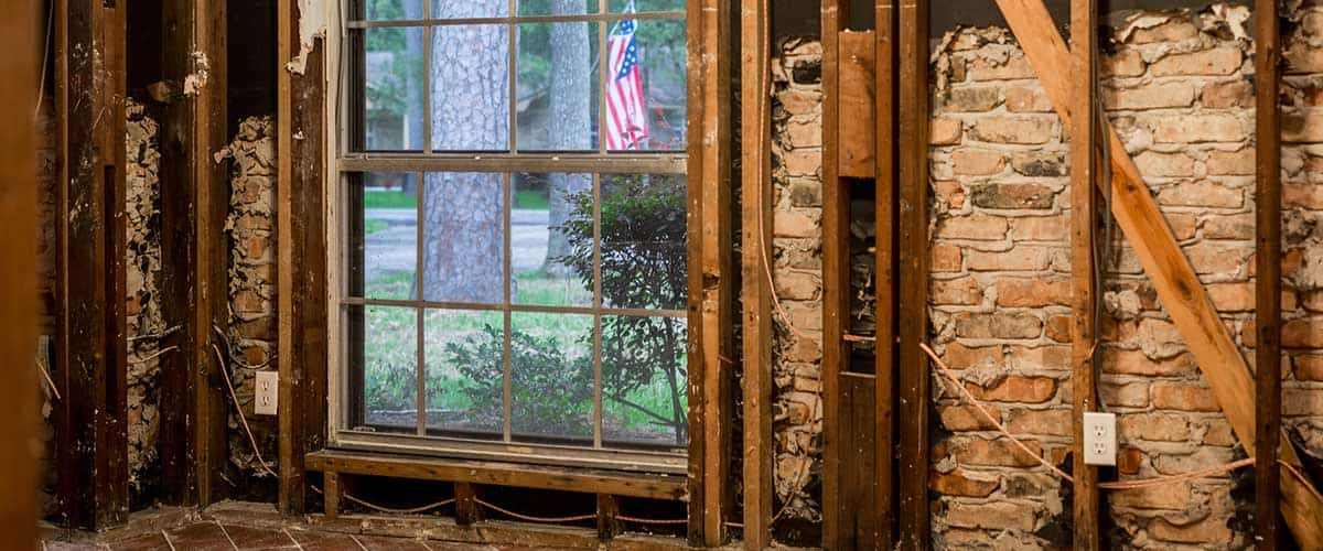 Interior Wall Window Electrical Water Damage