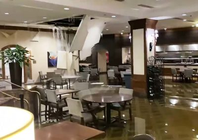 Water Pouring Through Ceiling