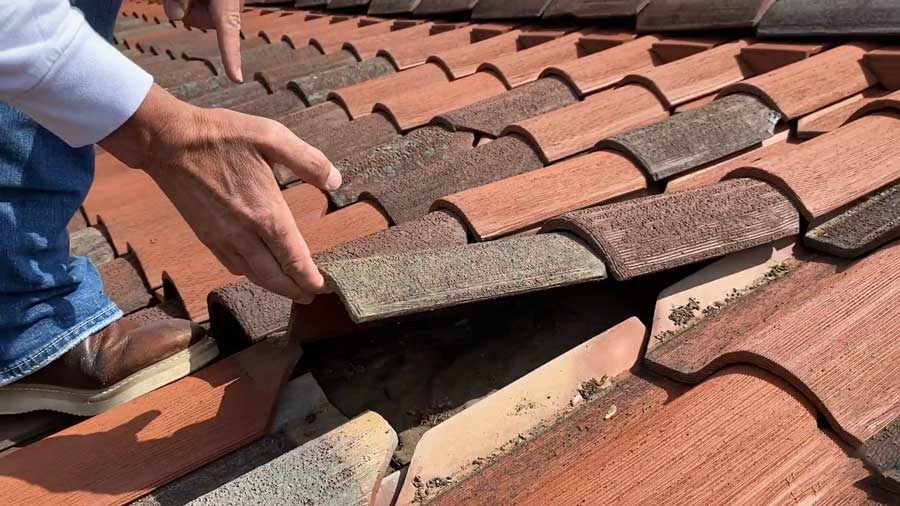 Tile Damaged & Loose From Wind